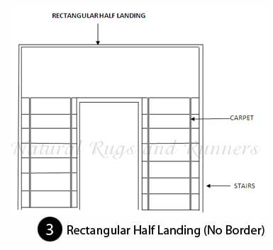 Rectangular Half Landing, No Border